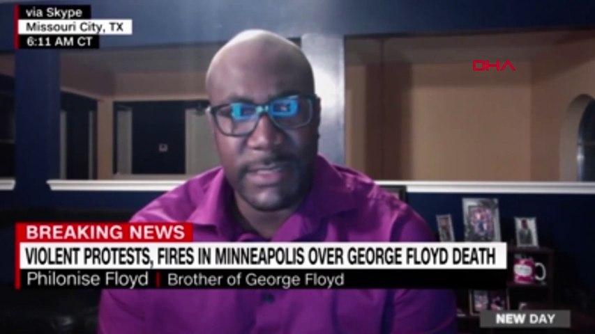 George Floyd'un kardeşi: Trump bana konuşma fırsatı vermedi