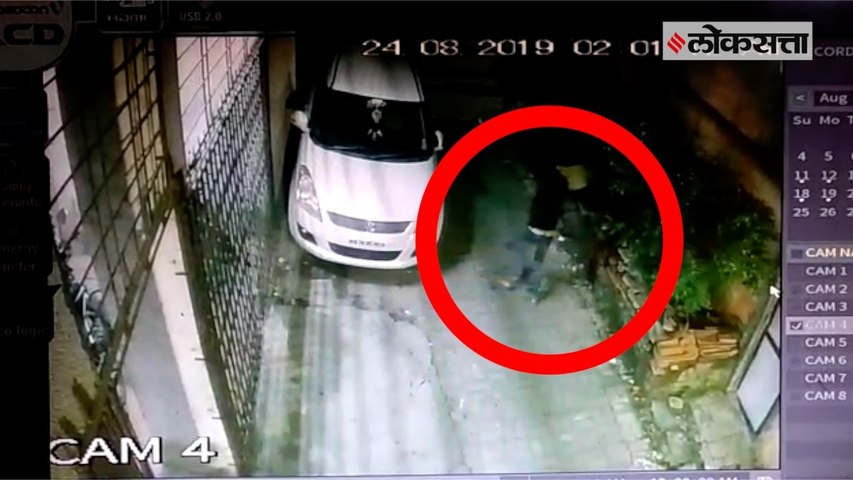 CCTV: vehicle vandalism in pune