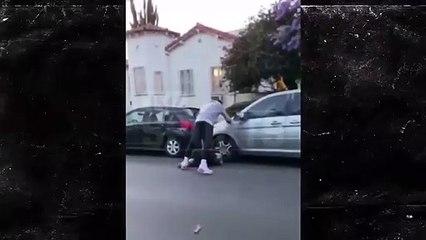 La star de NBA JR Smith corrige un «antifa » qui vandalisait sa voiture