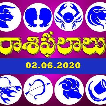 Daily Rashi Phalithalu In Telugu 02.06.2020