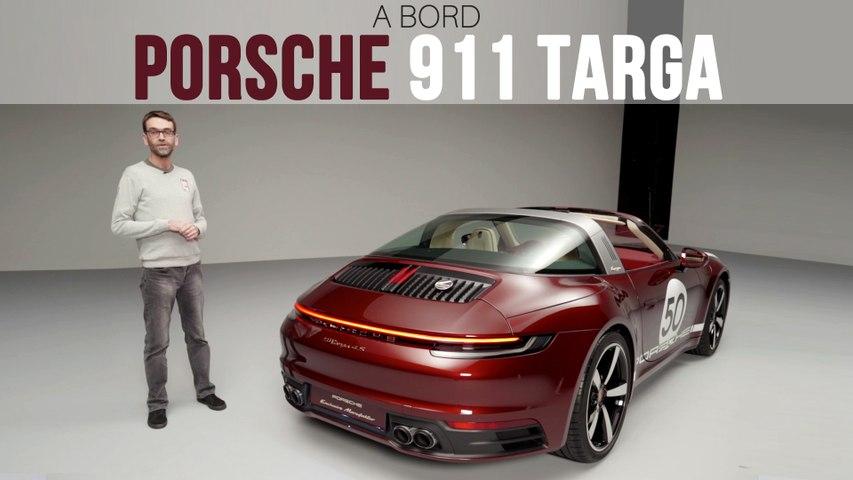 A bord de la Porsche 911 Targa 4 S Heritage Design Edition (2020)