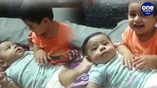 ದೊಡ್ಡವಳಾದ್ಲು ಯಶ್ ಮಗಳು...ಆಯ್ರಾ ಮಾಡ್ತಿರೋ ತಾಯಿ ಕೆಲ್ಸ ಸಖತ್ ಕ್ಯೂಟ್| Cute Ayra cuddling baby brother |Yash