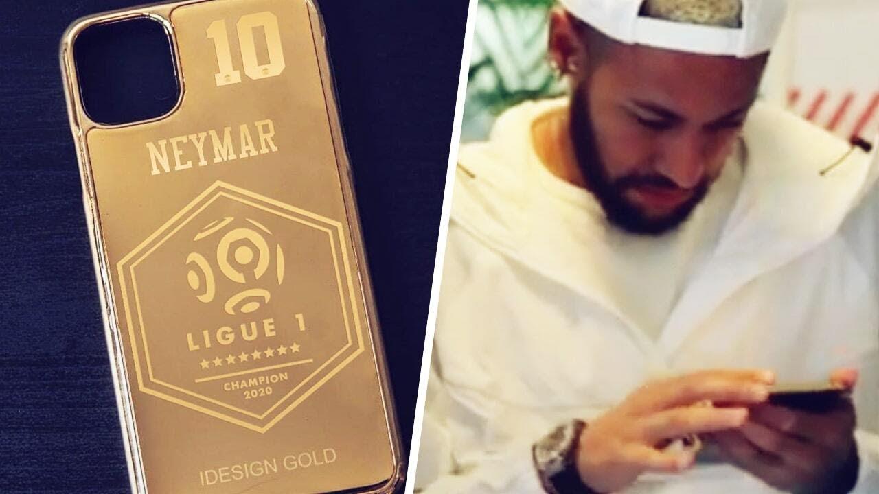 Neymar, Mbappé et Thiago Silva vont recevoir une coque iPhone en or 24 carats ! | Oh My Goal