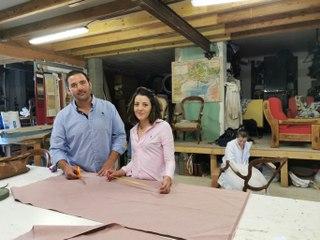 Saint-Laurent d'Aigouze  : l'atelier de tapisserie et bottes camarguaises de Grégory Bionne et Sofia Pereira