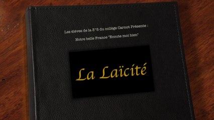 « Coup de cœur » du jury : la vidéo «Notre belle France « Ecoute moi bien » du collège Carnot de Grasse