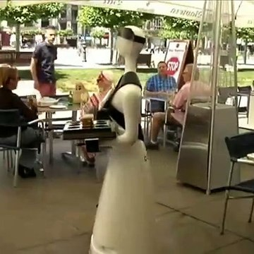 Alexia, the robot-waiter from Pamplona, Spain