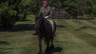 Queen Elizabeth Spotted Riding Her Horse at Windsor In First Sighting Since Lockdown Began