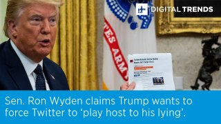 Sen. Ron Wyden: Trump wants to force Twitter to 'play host to his lying'