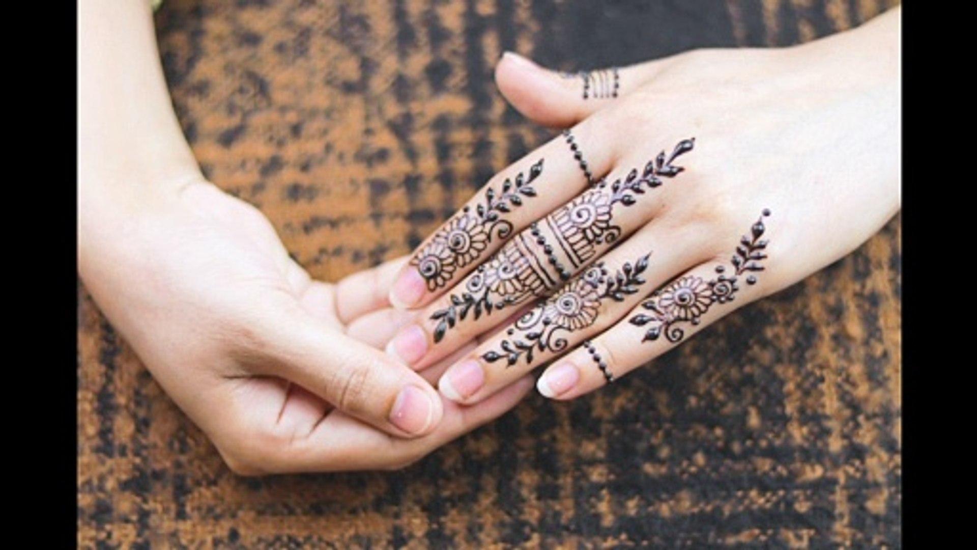 simple mehndi design for finger 2020