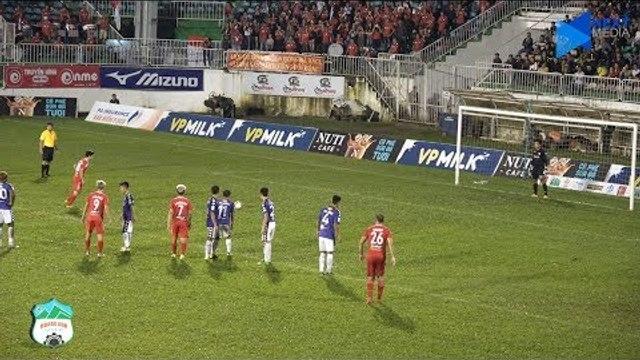 Xem lại bàn penalty ''hú hồn'' tưởng trượt của Công Phượng trong trận đấu gặp Hà Nội | HAGL Media