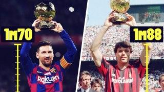 Les Ballons d'Or depuis 1990 classés du plus petit au plus grand | Oh My Goal