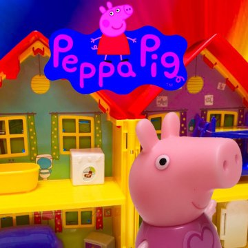Peppa Pig House with George and Suzy Sheep Toy