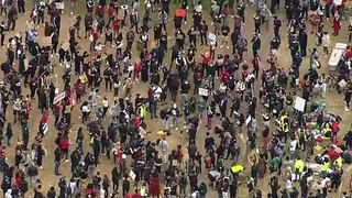 Thousands join protest in London after George Floyd's death
