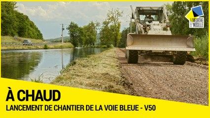 Lancement de chantier de la Voie bleue, Moselle-Saône à vélo (V50)
