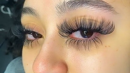 These superlong eyelash extensions are mesmerizing