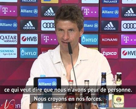 """Bayern - Müller : """"Nous n'avons peur de personne"""""""