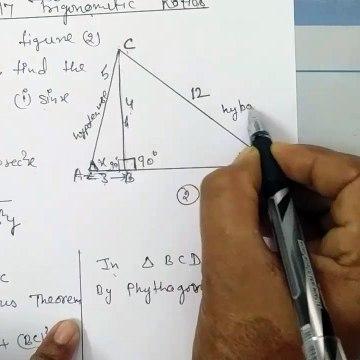 Trigonometric Ratios Chapter 17 Class 9th Icseboard maths Solutions Question 3.  B