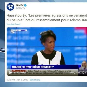 Hapsatou Sy : son discours contre les violences policières sur BFMTV salué par la Toile