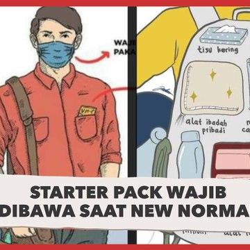 Starter Pack Wajib Dibawa saat New Normal
