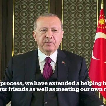 """Cumhurbaşkanı Erdoğan, """"2020 Küresel Aşı Zirvesi"""" katılımcılarına seslendi"""