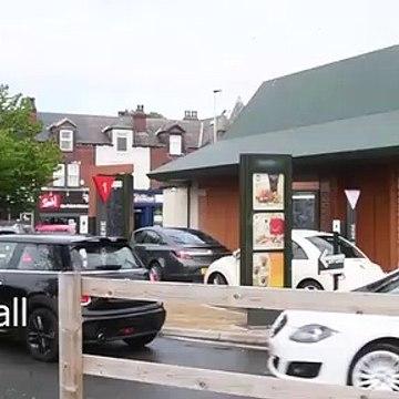 Queues at McDonalds Drive Through's in Leeds