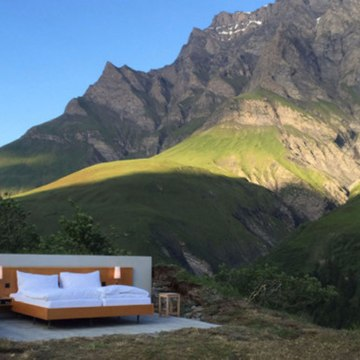 An outdoor hotel in Switzerland