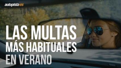 Multas en verano: conducir en chanclas, sin camiseta y más