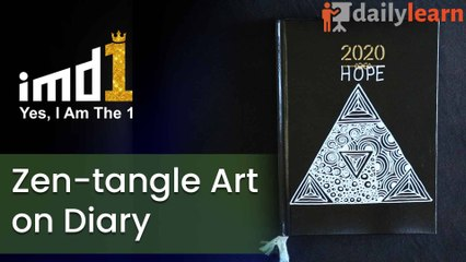 Zentangle Art on Diary