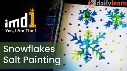 Snowflakes Salt Painting