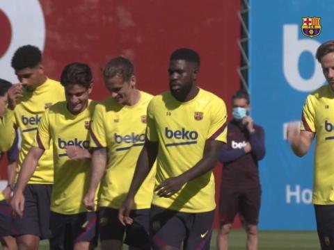 La Liga - Le Barça s'entraîne encore sans Messi