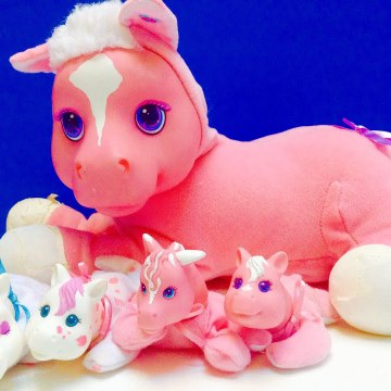Pink Horse Gives Birth To Cute Baby Ponies-