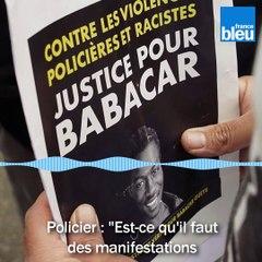 Rennes - Echange entre un policier et deux jeunes