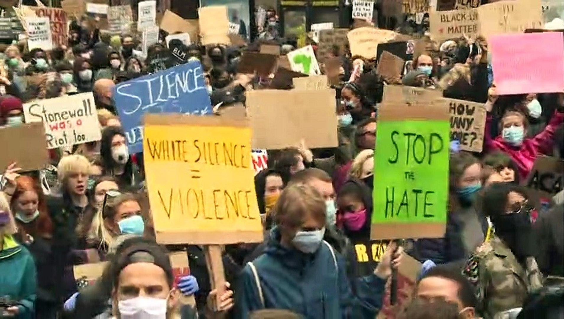 تظاهرات مناهضة للعنصرية في عدة أنحاء من العالم