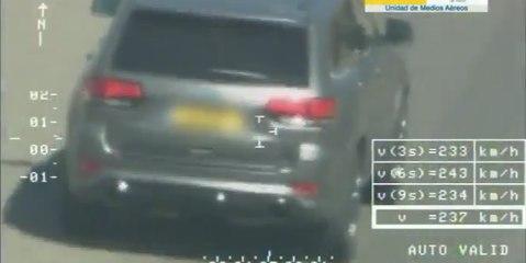 VÍDEO: Multa y posible cárcel... Pillan a un Jeep Grand Cherokke SRT8 a ¡¡243 km/h!! por una autovía