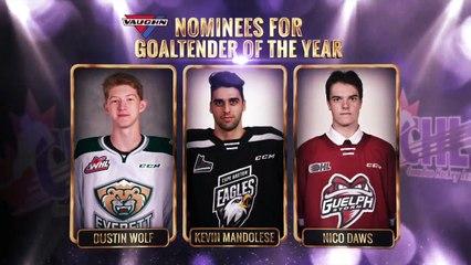 CHL Goaltender of the Year – Dustin Wolf, Everett Silvertips