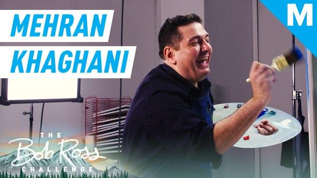 'Last Comic Standing's' Mehran Khaghani paints along with Bob Ross — The Bob Ross Challenge