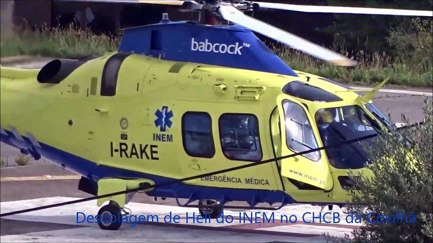 INEM, descolagem de Héli no Hospital da Covilhã, CHCB a 9-6-2020