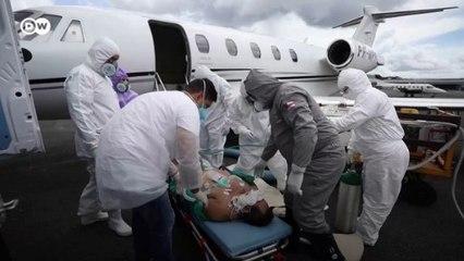 Transporte aéreo de pacientes com covid-19 no Amazonas