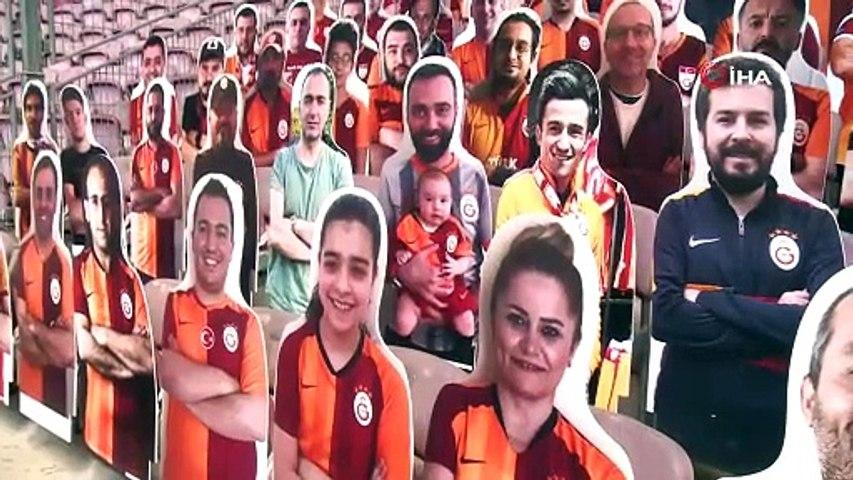 Galatasaray'da karton taraftarlar stattaki yerini alıyor