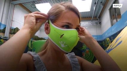 Máscaras à prova d'água para evitar o corona?