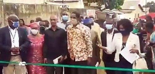 Mouctar Diallo inaugure une route pavée de 107 mètres à Hamdallaye