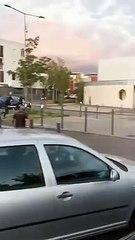Çeçenler Fransa'da mahalle bastı, asker şehre indi