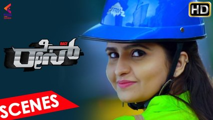 Raksha Falls For Bigg Boss Divakar | Race Kannada Movie | Sandalwood Movies | Kannada Filmnagar