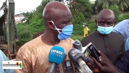 Déguerpissement des zones critiques : le ministre Kourouma à l'offensive pour 150 point à Conakry *