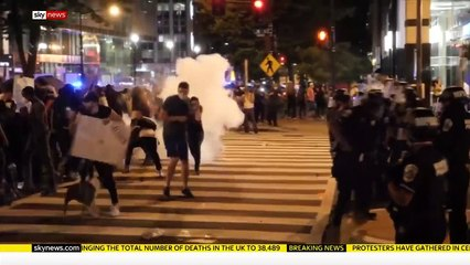 Protests widen in the US