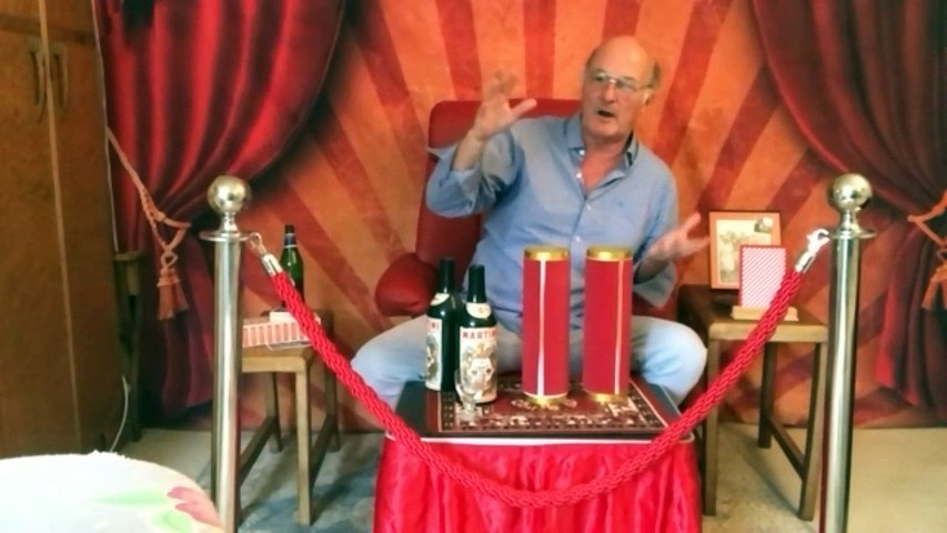 Andrew Eborn - TOMMY COOPER SPECIAL BOTTLE  GLASS with Clive St James