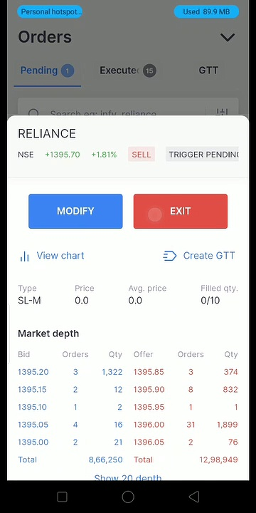 Live intraday trading profit 1000 Rs