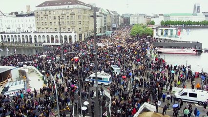 Proteste in Hamburg (6.6.2020) gegen Rassismus