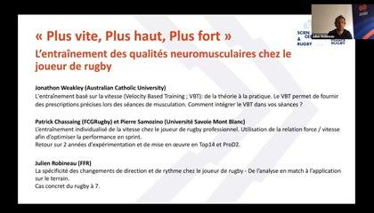 L'entraînement des qualités neuromusculaires chez le joueur de rugby (webinaire)