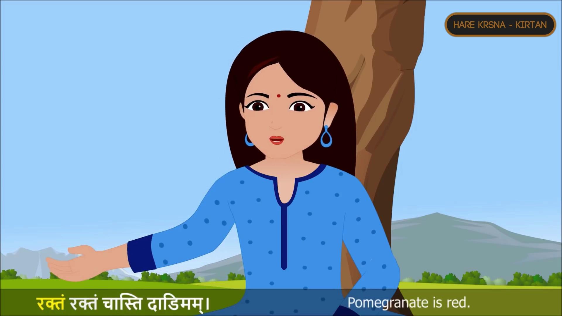 Description | Sanskrit Rhymes — 4 (वर्णाः) | narration | Kids | Animated rhyme | Sanskrit language | learn vowels Nursery Rhymes For Kids |